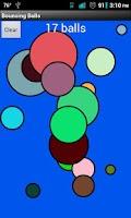 Screenshot of Bouncing Balls