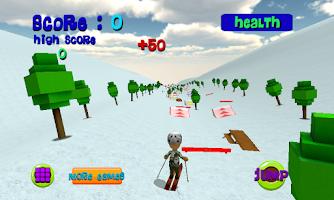 Screenshot of Ski Sim: Cartoon