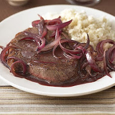 Steak & Onions With Celeriac Mash