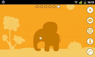 Screenshot of Elephant Theme GO Launcher EX