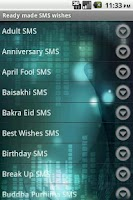 Screenshot of Best SMS Wishes & Phrases Ad