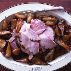 Honeyed Ham with Pears and Cranberries