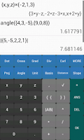Screenshot of Vector Calculator