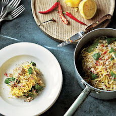 Crab Linguine with Basil, Lemon & Chile
