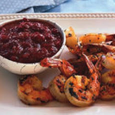 Grilled Curried Shrimp with Cranberry Chutney