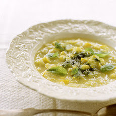 Summer Squash Soup with Basil Pistou
