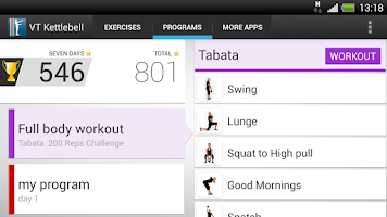 Screenshot of Virtual Trainer Kettlebell