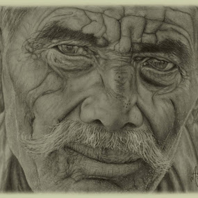 Old And Rusted.... by Ashwini Dey - Drawing All Drawing ( sketch, old and rusted, ashwini dey, old man, pencil sketch, drawing )