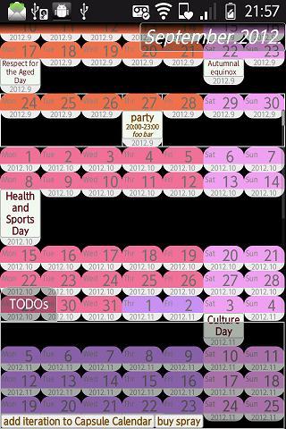 Capsule Calendar
