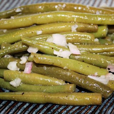 Green Beans With White Wine and Garlic Vinaigrette