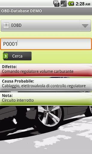 OBD-Database Italiano DEMO