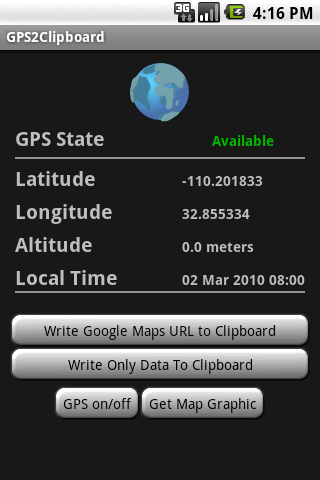 GPS2Clipboard.