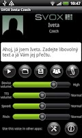 Screenshot of SVOX Czech/Český Iveta Voice