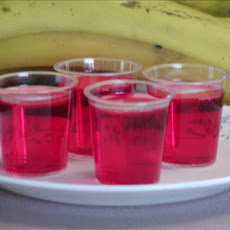 Strawberry, Banana, Rum Jello Shots