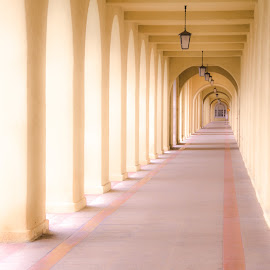The Long Corridor by Gary Hanson - Buildings & Architecture Public & Historical ( marine, san diego, corridor, base, long )