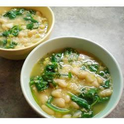 Spinach, Leek and Cannellini Bean Soup