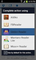 Screenshot of Gitden Reader: EPUB 3 & EPUB 2