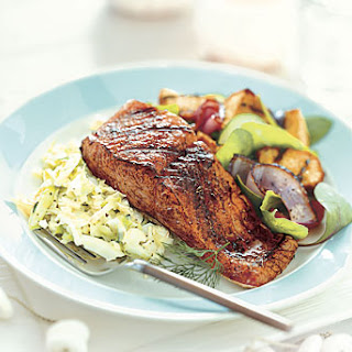 Fennel- and Dill-Rubbed Grilled Salmon