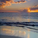 Calm Beach At Sunset icon