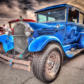 Blue Coupe by Ron Meyers - Transportation Automobiles