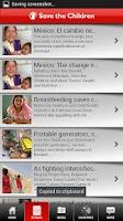 Screenshot of Save the Children