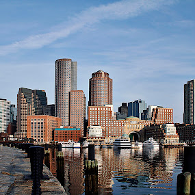 Boston Harbor by Mark Cavanah - City,  Street & Park  Vistas