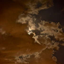 moonlight by MIrella Napolitano - Landscapes Cloud Formations ( moon, nightscape )