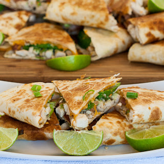 Cheesy Chicken with Bacon and Avocado Quesadillas