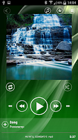 Screenshot of Poweramp Skin Sphere Green