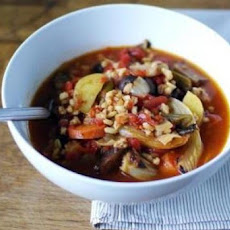 Barley and Roasted-Vegetable Soup