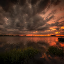 Th Twelfth of Never by Linda Karlin - Landscapes Sunsets & Sunrises ( water, sunset, long island, landscape )