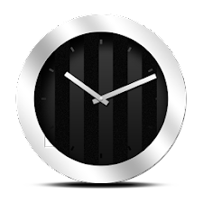 Silver Black Clock Widget