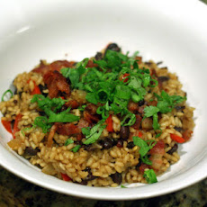 Black Beans and Rice with Bacon