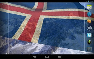 Screenshot of 3D Iceland Flag Live Wallpaper