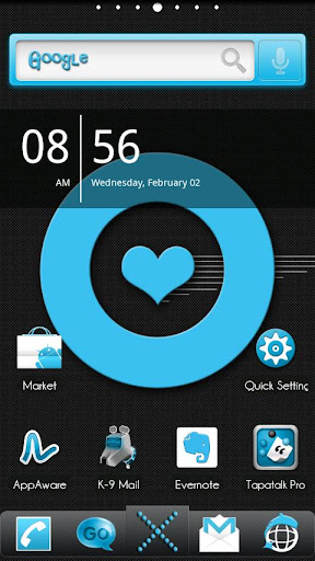 ADW Theme MissDroid Blue