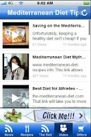 Screenshot of Mediterrean Diet Tips.