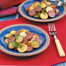 Simple Squash and Sausage