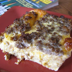 Overnight Cheese and Egg Casserole