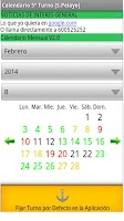 Screenshot of Calendario Turnos Acerinox