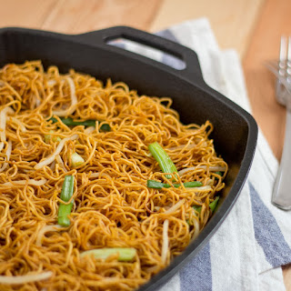 Pan-fried Noodles with Soy Sauce