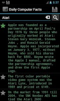 Screenshot of Amazing Computer Facts