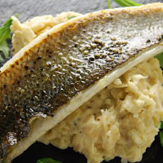 Sea Bass With Butter Bean Mash