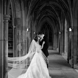That moment... by Brian Mullins - Wedding Bride & Groom ( black and white, weddings, duke, posed, portrait )