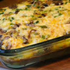 Mushroom, Green Pepper, and Feta Breakfast Casserole