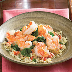 Lemony Shrimp and Spinach