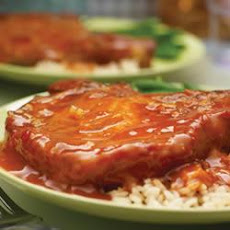 Pork Chops in Spicy Orange Sesame Glaze