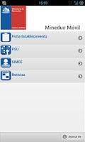 Screenshot of Mineduc Móvil