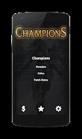Screenshot of League of Legends Champions