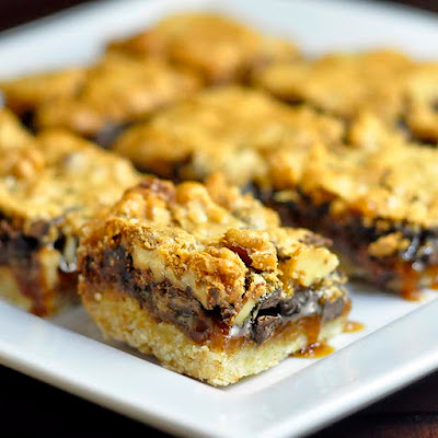 Chocolate Walnut Butter Tart Bars