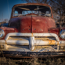 Red Chevy by Ron Meyers - Transportation Automobiles